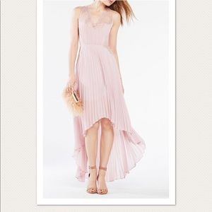Blush pink BCBG Angelea High Low Dress